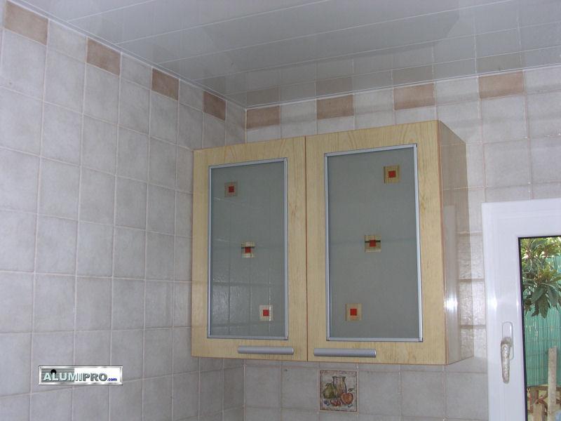 falso techo de aluminio para cocina y baño - Extractores De Bano Para Falso Techo