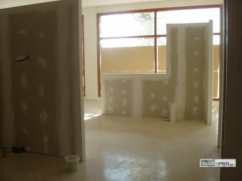Instalaci n de tabiquer a pladur en local comercial - Instalacion de pladur en paredes ...