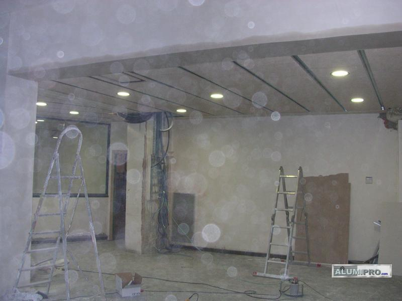Proceso de instalaci n de falso techo en local comercial - Falso techo modular ...