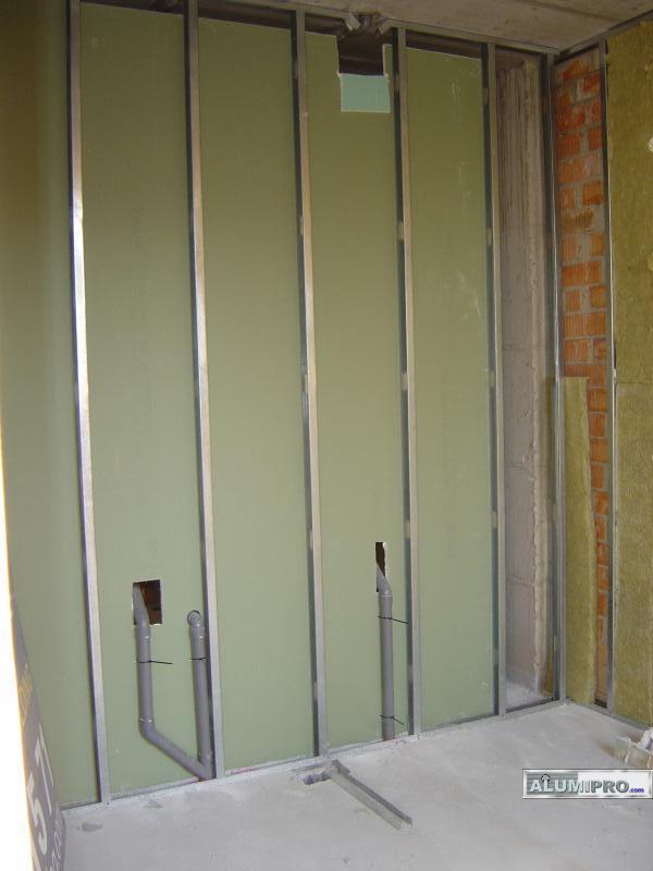 Construcci n del interior de un edificio mediante sistema for Montar pared de pladur